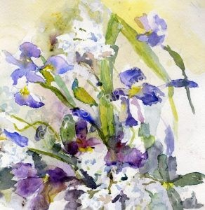 Phlox and Irises